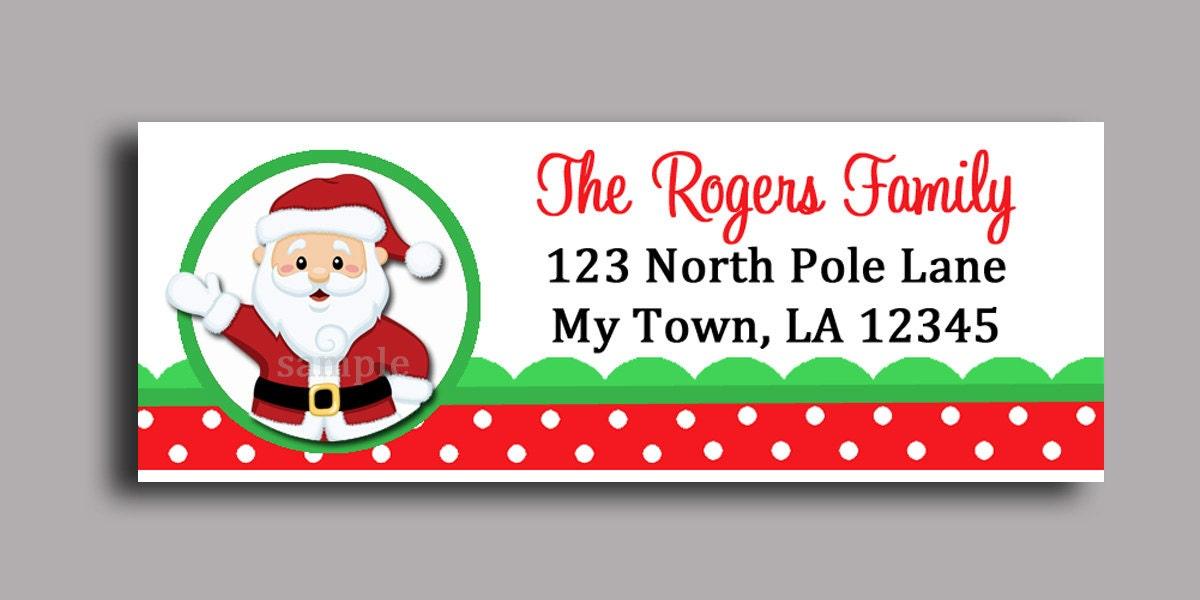 Christmas Santa Claus Labels Printable or Printed - Printable ...