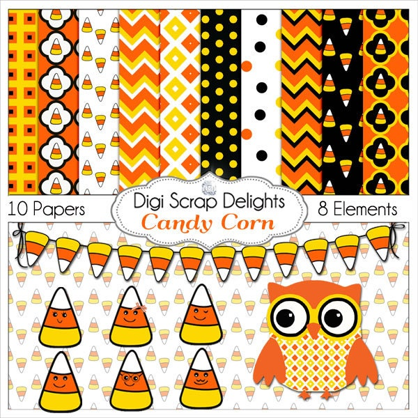 CAndy Corn Scrapbook Kit