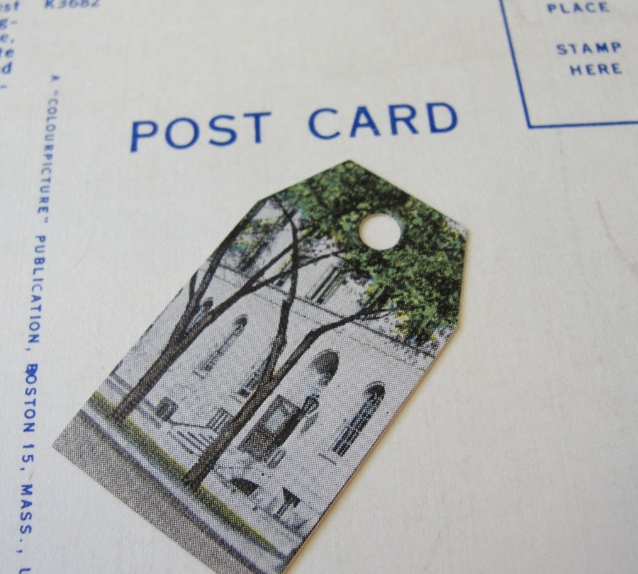 Price Tags - Upcycled Vintage Postcards