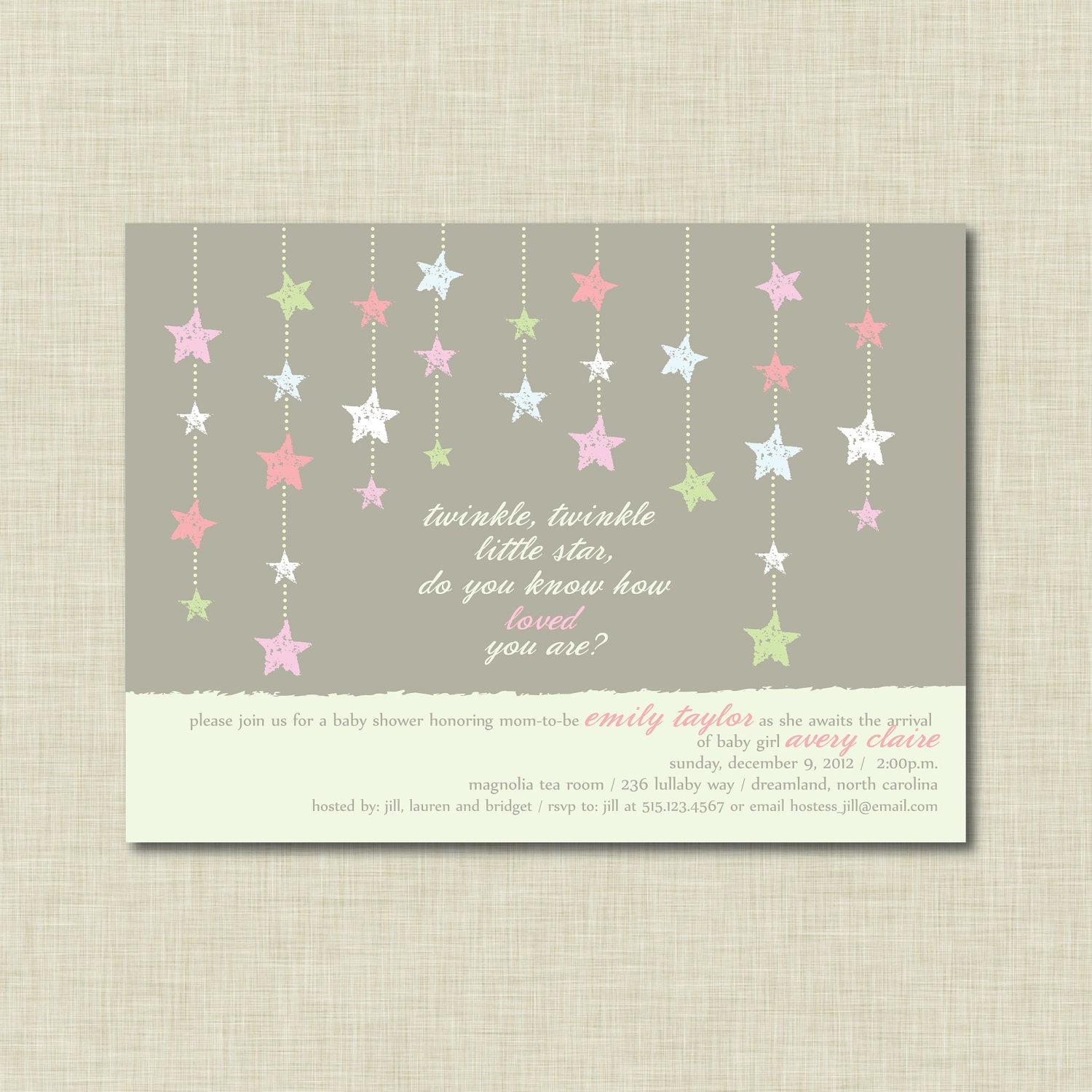 twinkle twinkle little star baby shower by yellowsparkstudio
