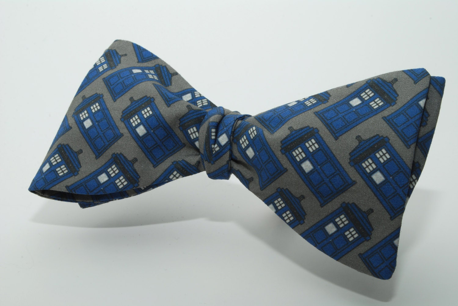 doctor who tardis freestyle bow tie by thedirectorscabin