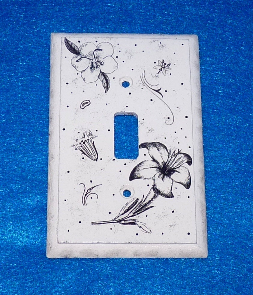 Hand Painted Light Switch Plate Wood Wall By Essenceofthesouth