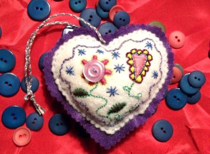 sweatheart felt heart ornament