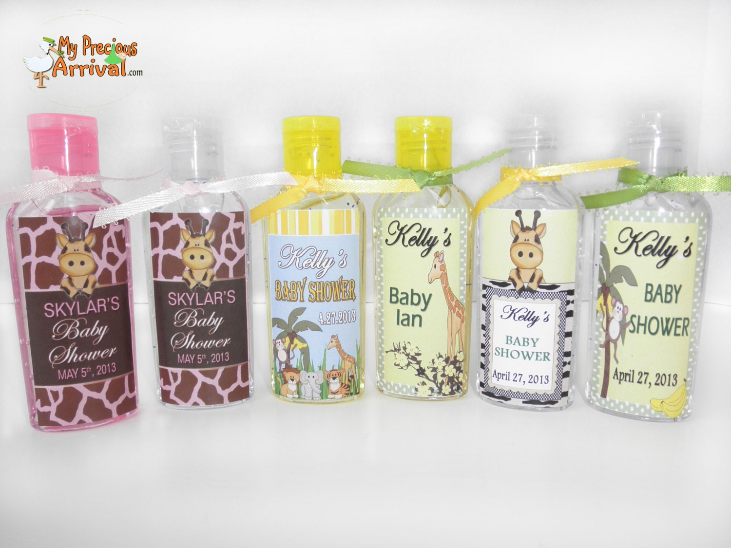 hand sanitizer shower favors baby showers wedding favors
