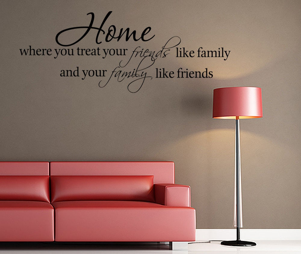 Family Friends Wall Decor : Home friends family quote wall decor decal v by