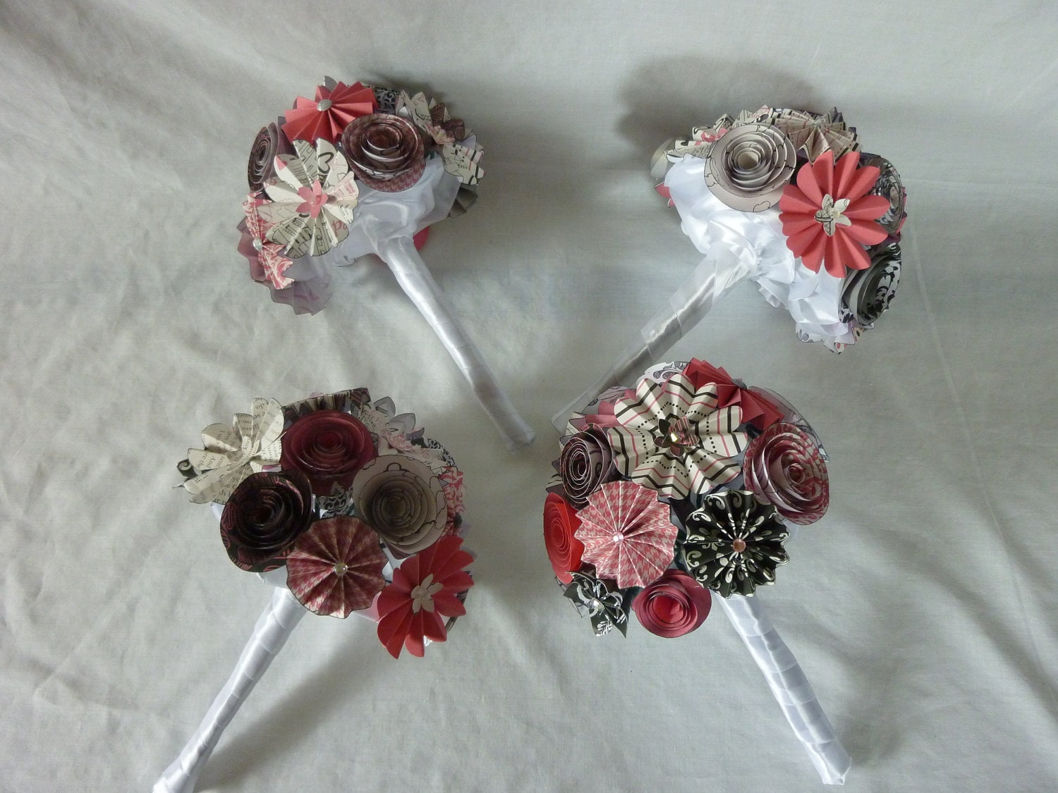 Some of my paper flower bouquets