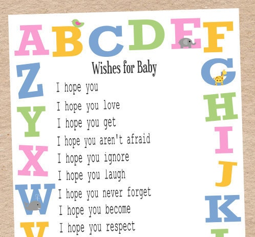 to baby shower game activity wishes for baby and book scramble game