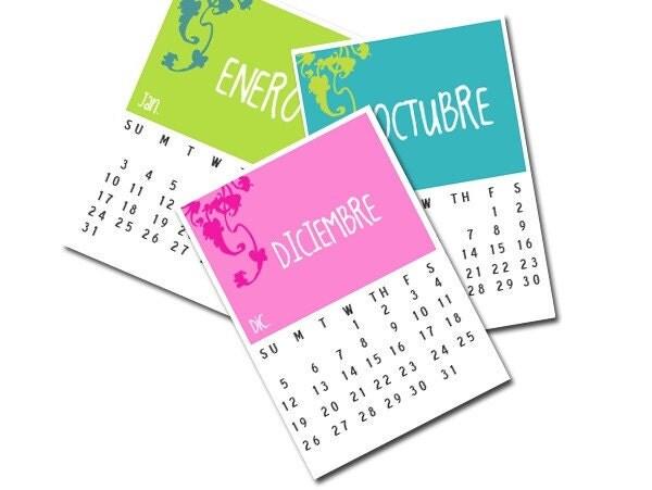 december 2010 calendar printable. 2010 CALENDAR - Spanish