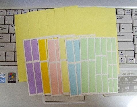 Film Cover index label sticker set - Set of 6 colors