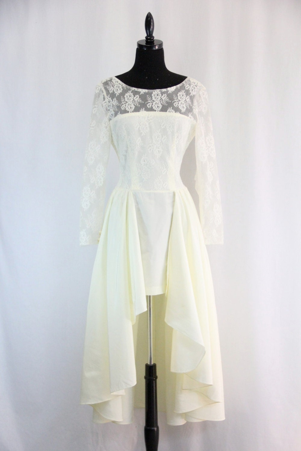 1980s Vintage Wedding Dress Mini Skirt With By EightiesLadies
