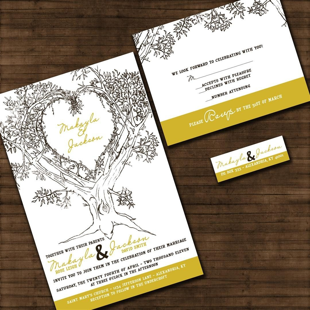Oak Tree Wedding Invitations was very inspiring ideas you may choose for invitation ideas