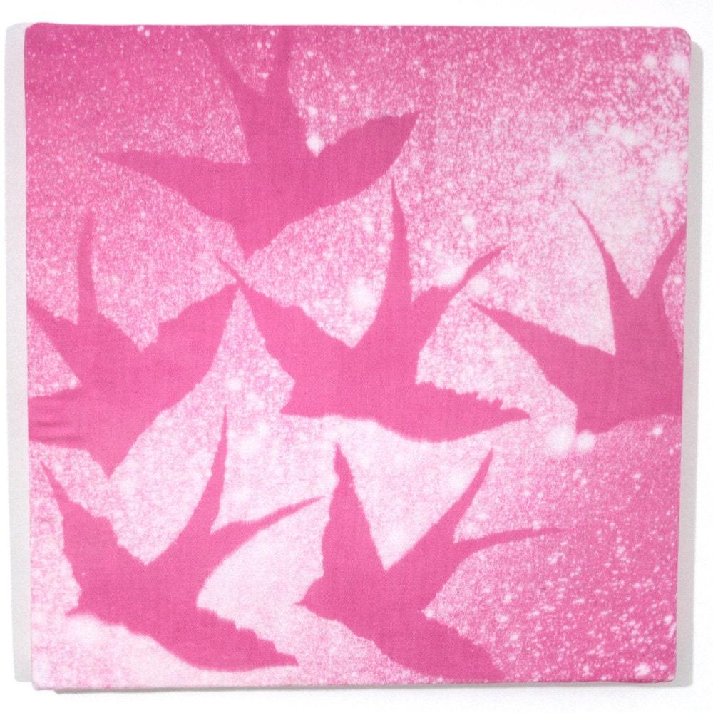 Free as a bird Wall Art Pink