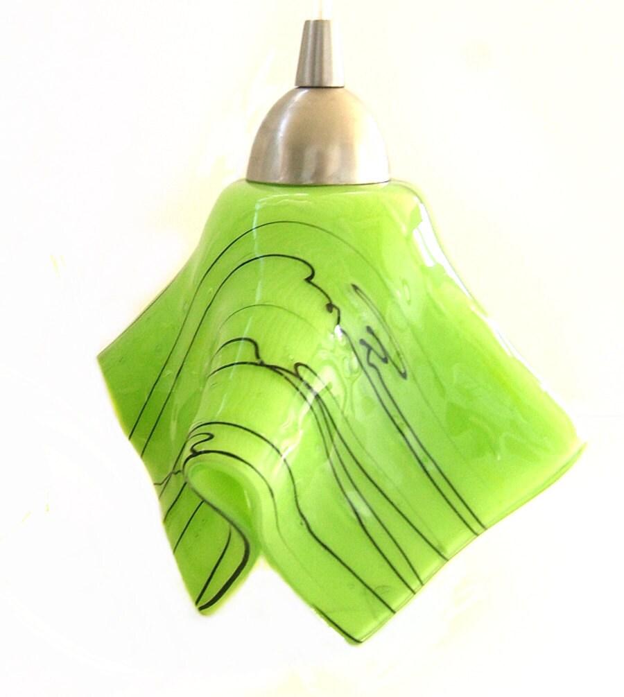 Green Kitchen Lights: Lime Green Kitchen Island Pendant Light By UneekGlassFusions