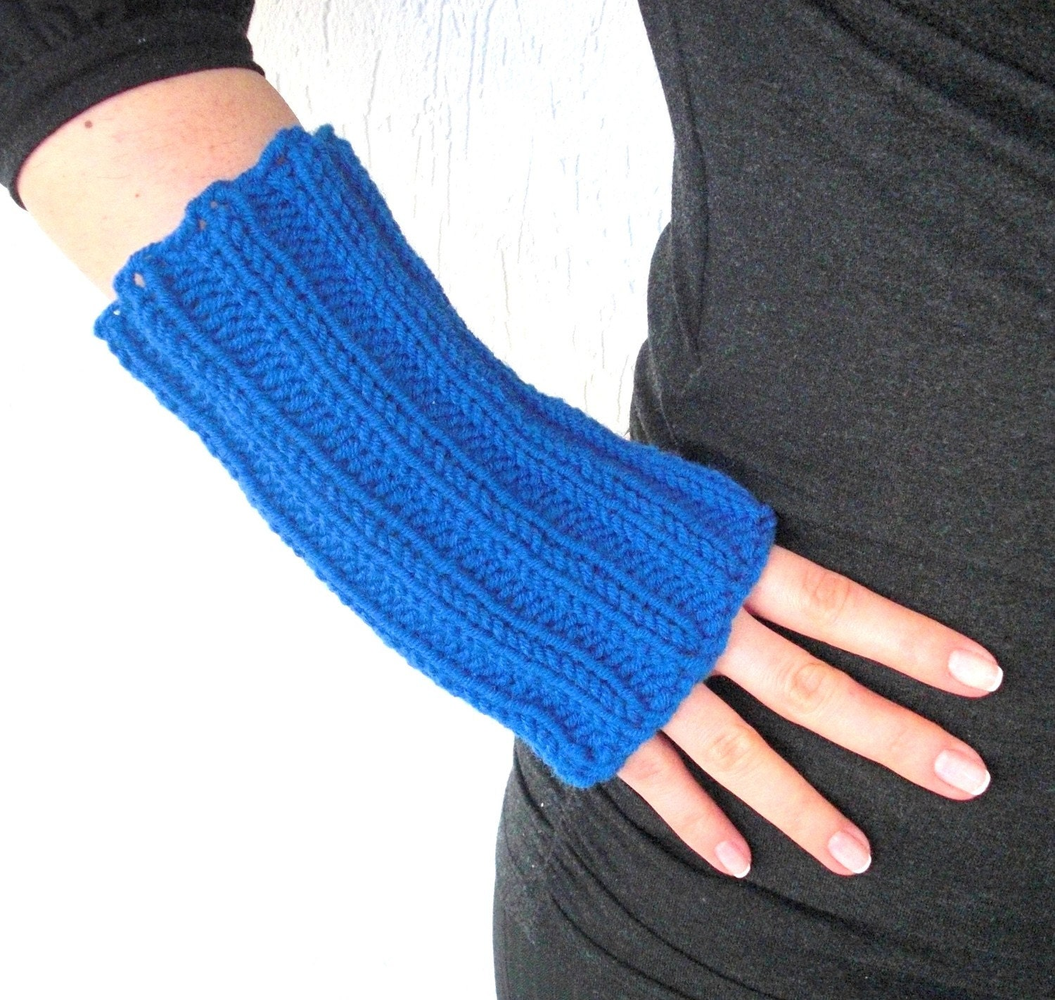 Glove Knit Pattern : Fingerless Glove Knitting Patterns Patterns Gallery