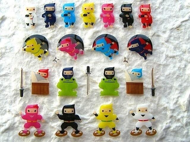 Cute Japanese Ninja Stickers (S226)