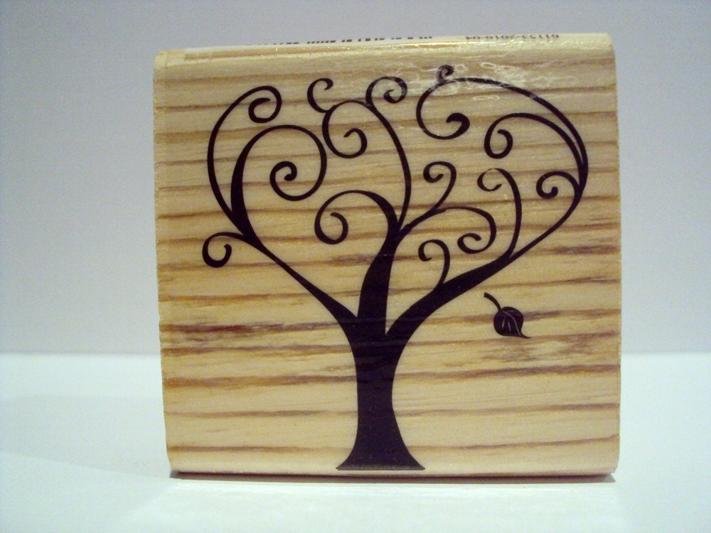 Autumn Tree of Thanks Wooden Mounted Rubber Stamping Block DIY cards embellishments scrapbooking and tags for Showers, Invitations, Greeting Cards, and Scrapbooking