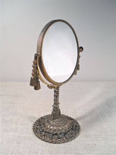 vintage vanity mirror swivel make up mirror by perfectpatina