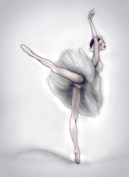 The Ballerina 13inx19in Art Print