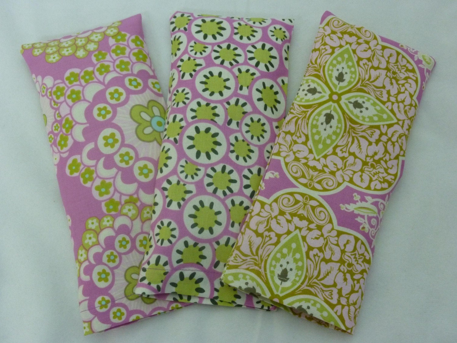 Soothing Aromatherapy Eye Pillow Set of Three with Removable Covers - Choice of Herbs