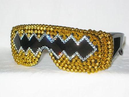 Gold Member - Gold Cone Stud and Swarovski Rhinestone Sunglasses