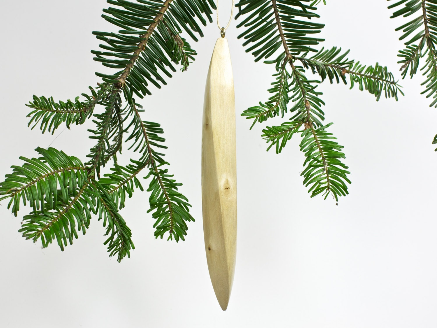 Items similar to wooden icicle ornament carved maple