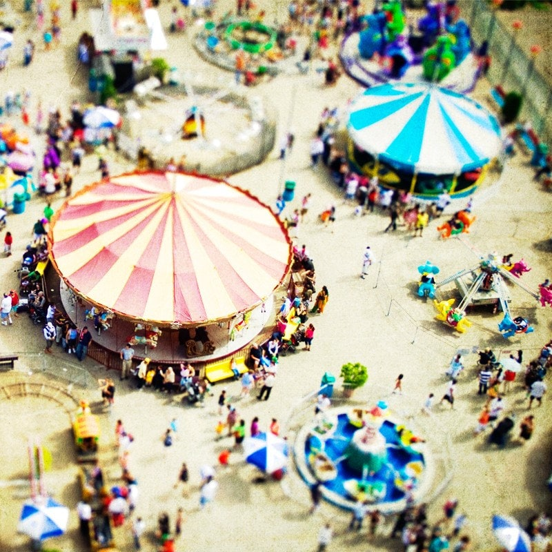 Coney Island Carnivale Summer Fun by Depuis Decorative Photography on Etsy