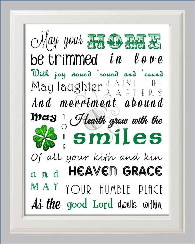 irish house blessing poem print art by kaybee by kaybeestudios