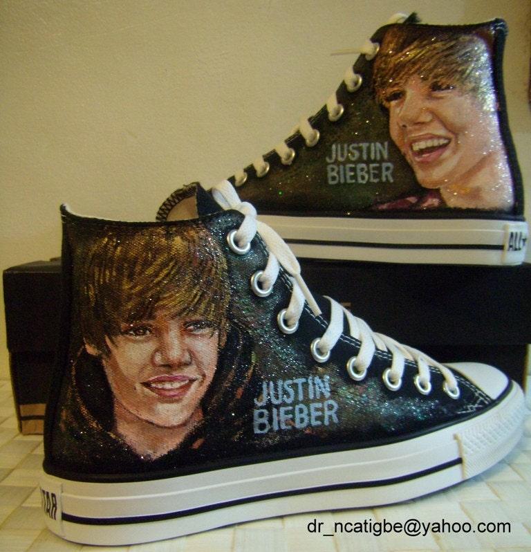 Personalized Justin Bieber Converse