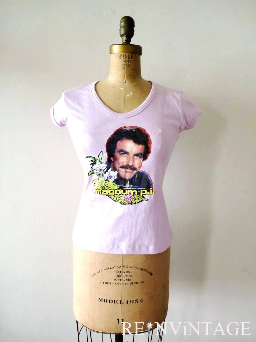 vintage 1980s tshirt magnum pi mustache by shopreinvintage
