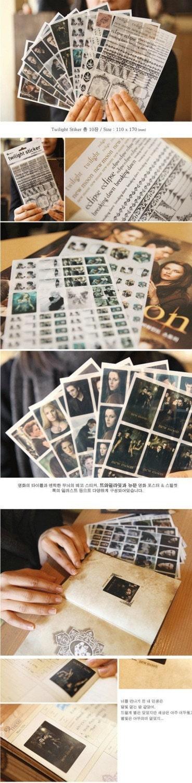 New MOON Twilight sticker - 10sheets