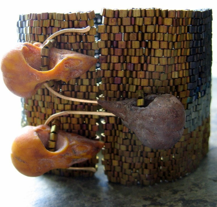 how to be a rock star beadwoven cuff