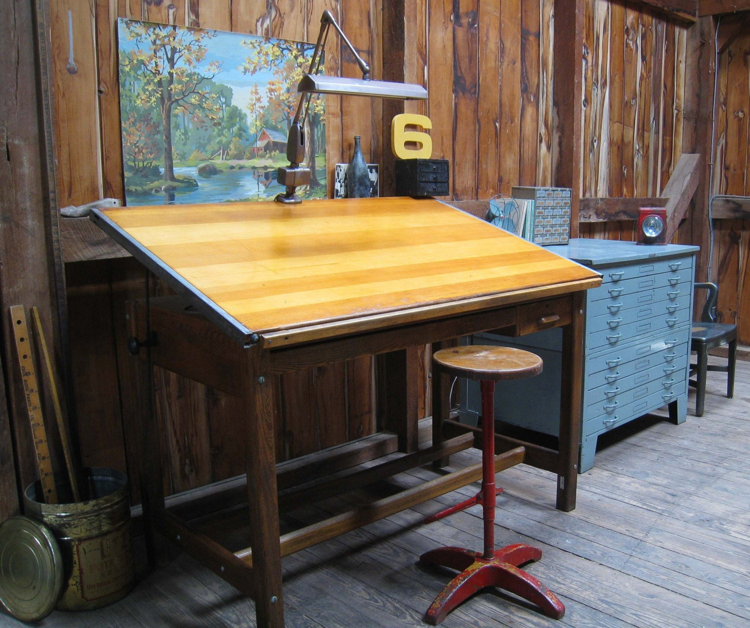 Vintage Drafting Table For Your Home Office