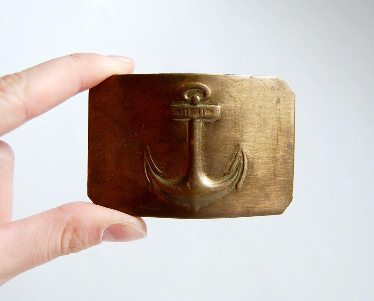 Belt Vintage Vintage Brass Belt Buckle From