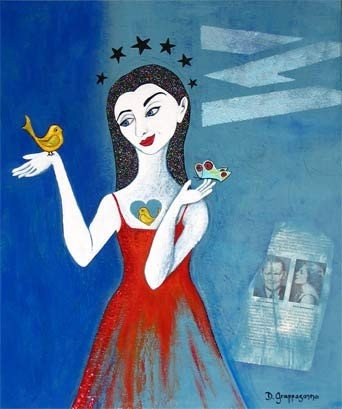 Bird in Hand no.2---------Original Painting 12 x 18 inches