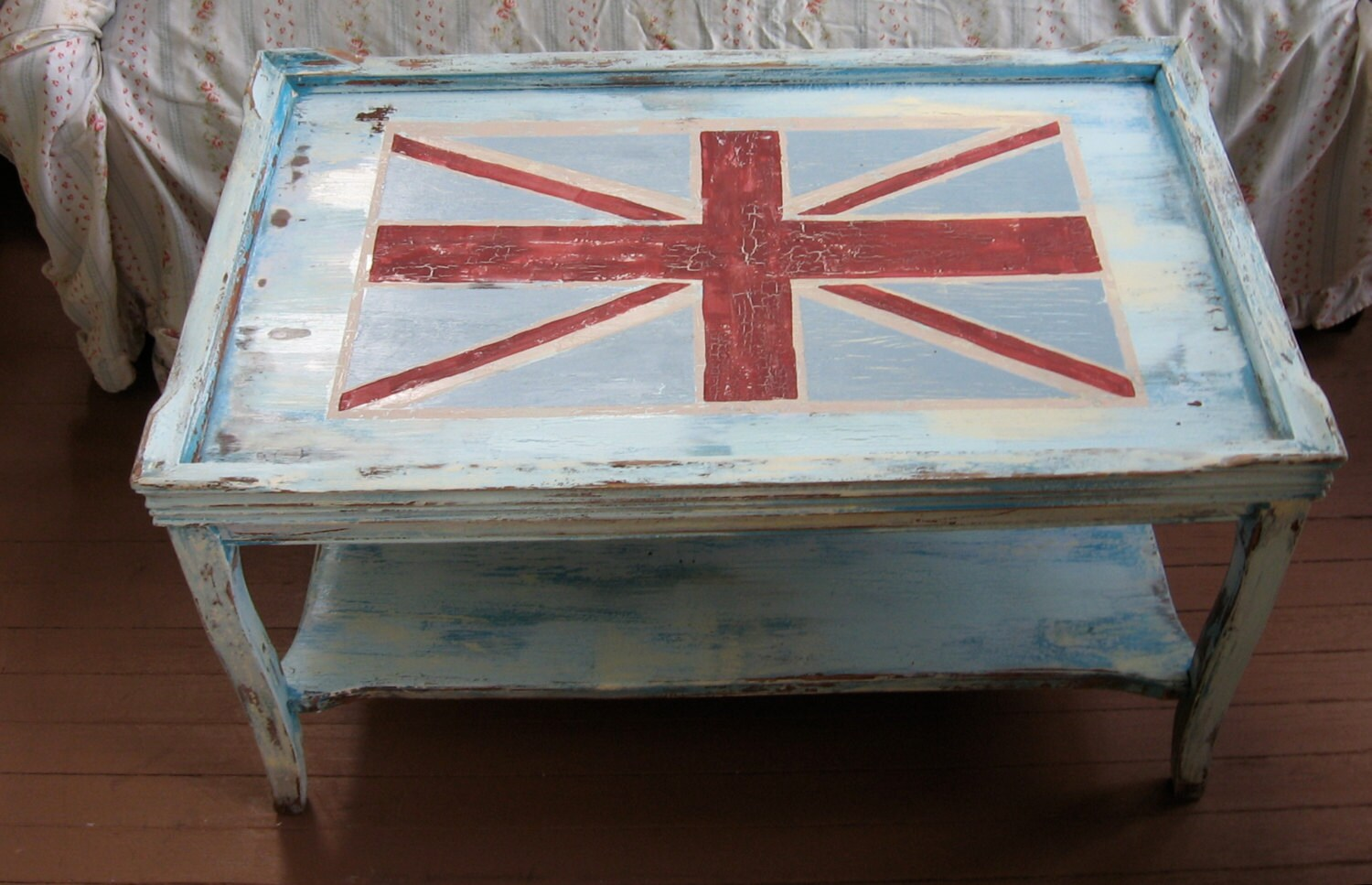 Reserved Union Jack Coffee Table Shabby Chic By Fannypippin