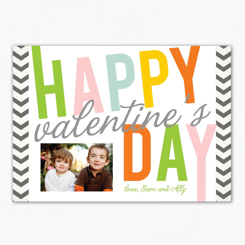 Zig Zag - a custom photo Valentine's Day card