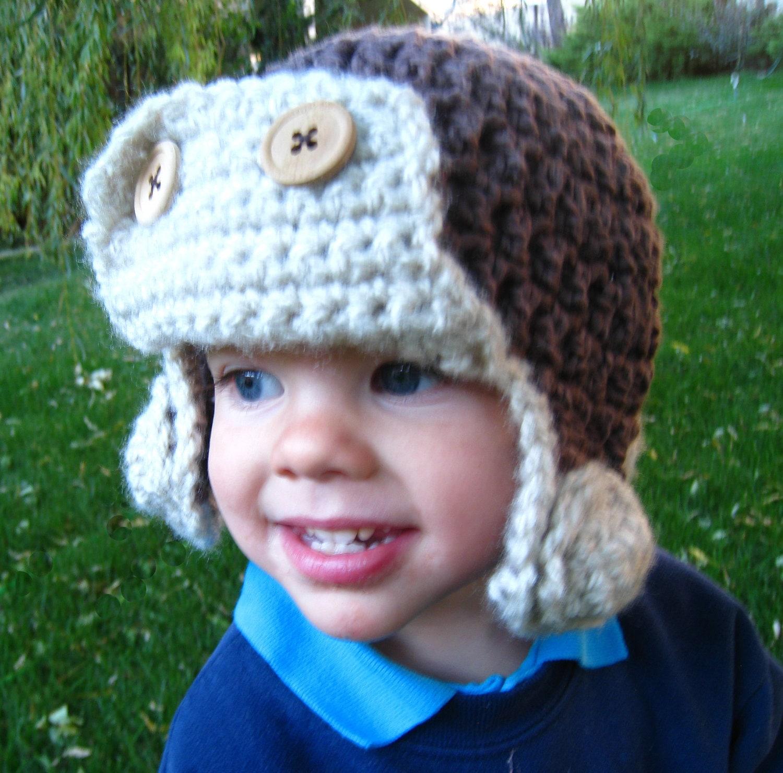 Infant Aviator Hat Crochet Pattern : Items similar to CROCHET PATTERN - hat, aviator hat ...