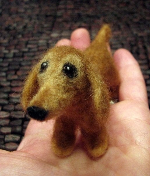 Custom Needle Felted  Wool Sculpture of the special dog in your life