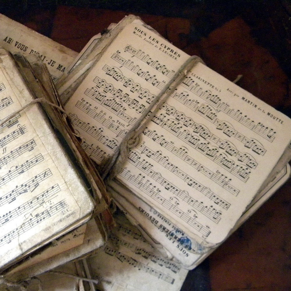 Vintage French sheet music, lot of 10