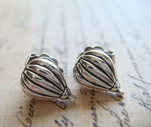 HOT AIR BALLOONS - Sterling Silver Post Earrings