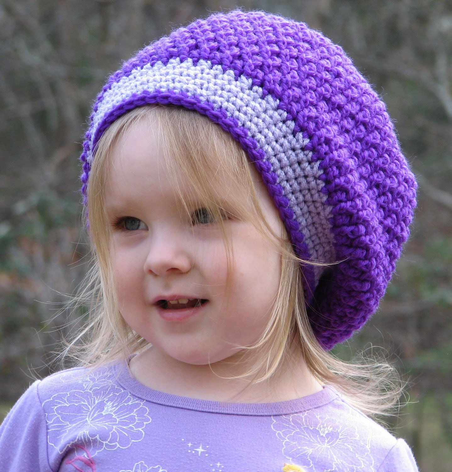Slouchy Beret Toddler Beanie Crochet Pattern PDF 052 Permission to Sell Finished Items