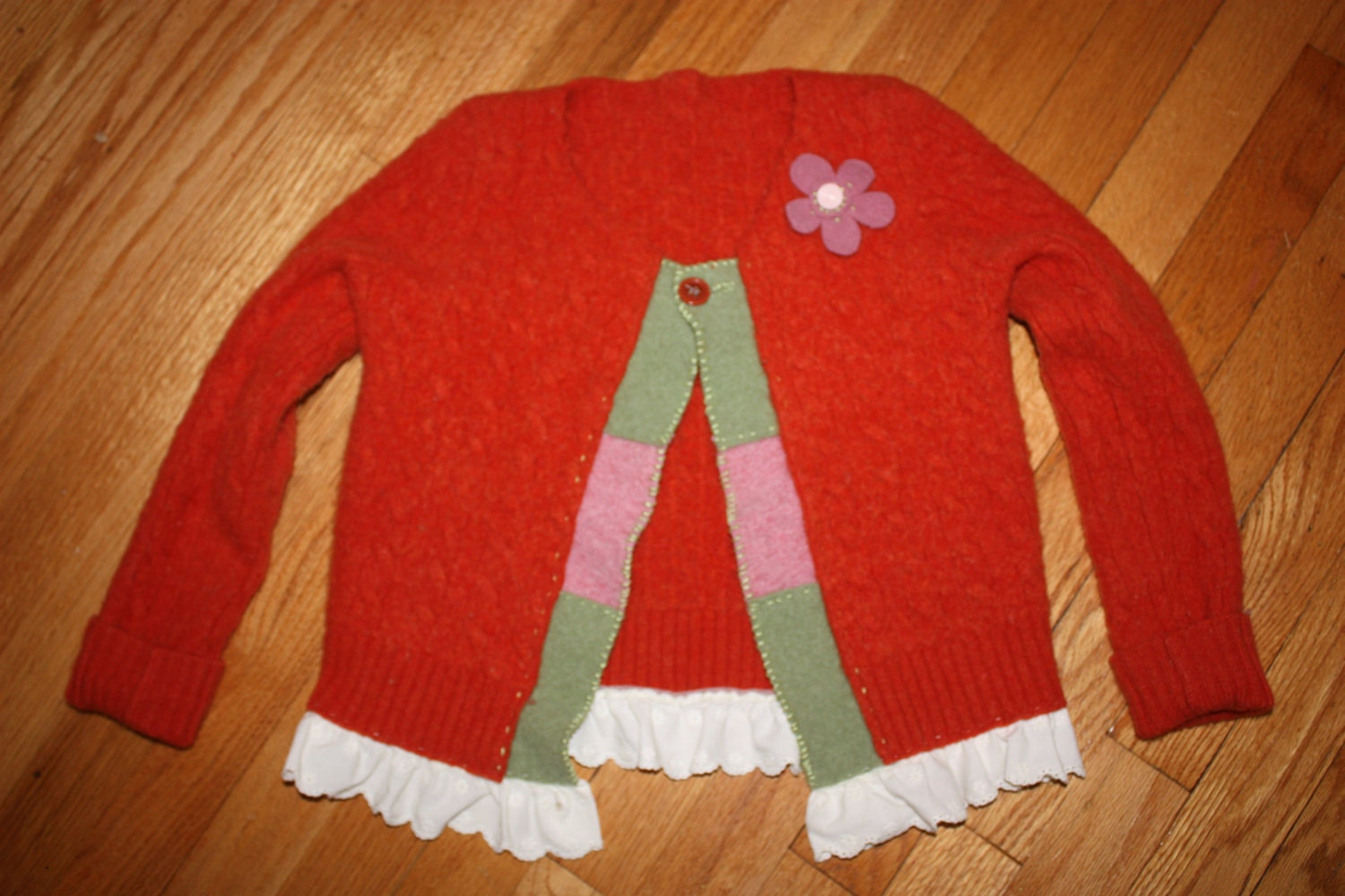 Super soft and sweet up-cycled wool sweater felted to perfection Great Christmas or Chanukah Present
