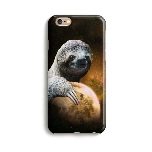 Planet Sloth  iPhone 7 case Samsung galaxy S7 case iPhone 6 iphone 7 plus samsung galaxy S6 iphone SE 1P019A
