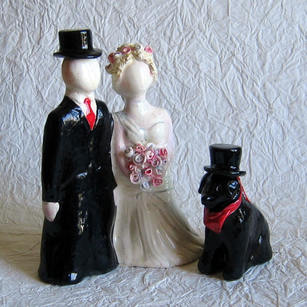 Wedding Caketoppers with Pet Option