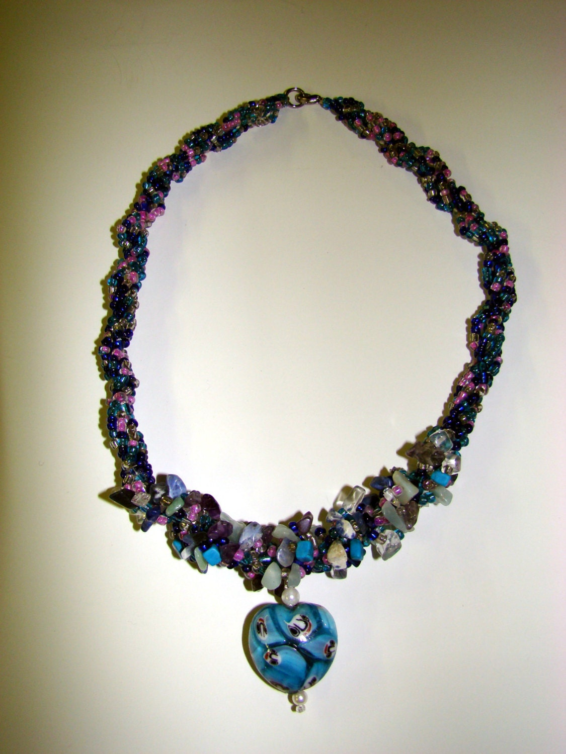 items similar to multicolored seed bead and gem