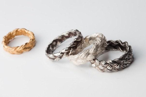 Cast Human Hair Plait Ring