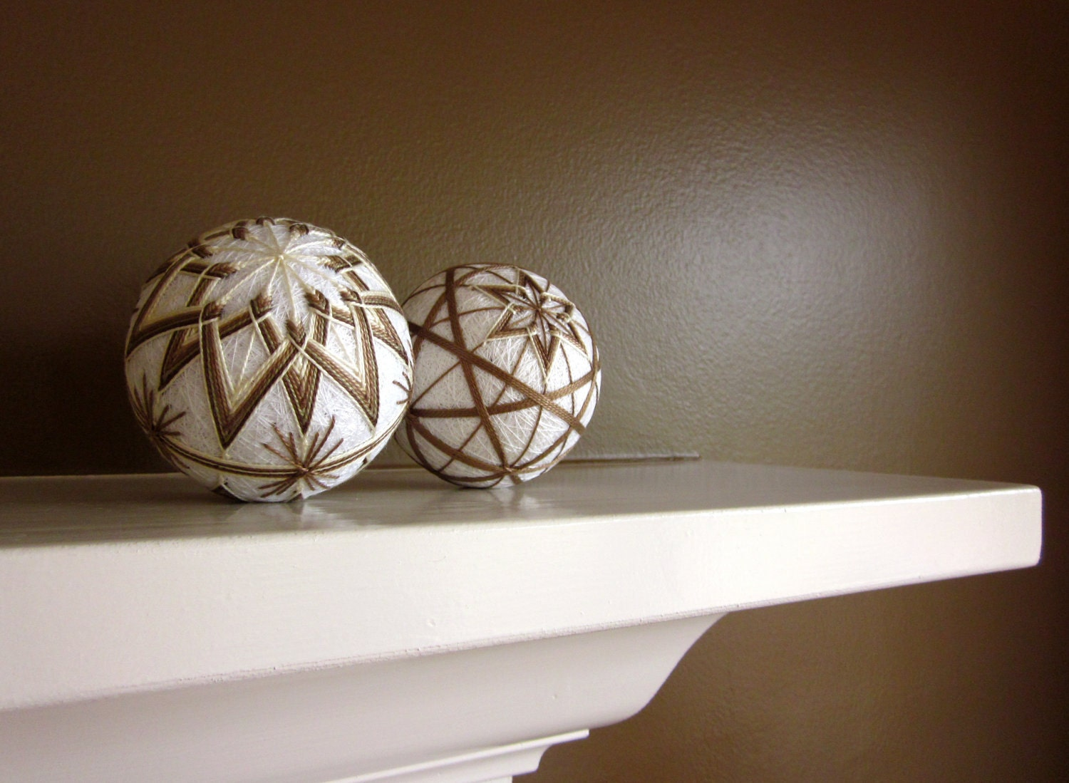 Decorative balls home decor hand embroidered by julieandco