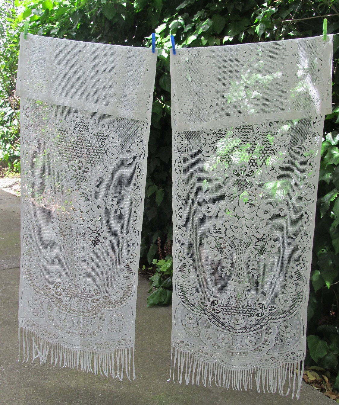 French Door Curtains, Lace Curtains, Lace Window Curtains