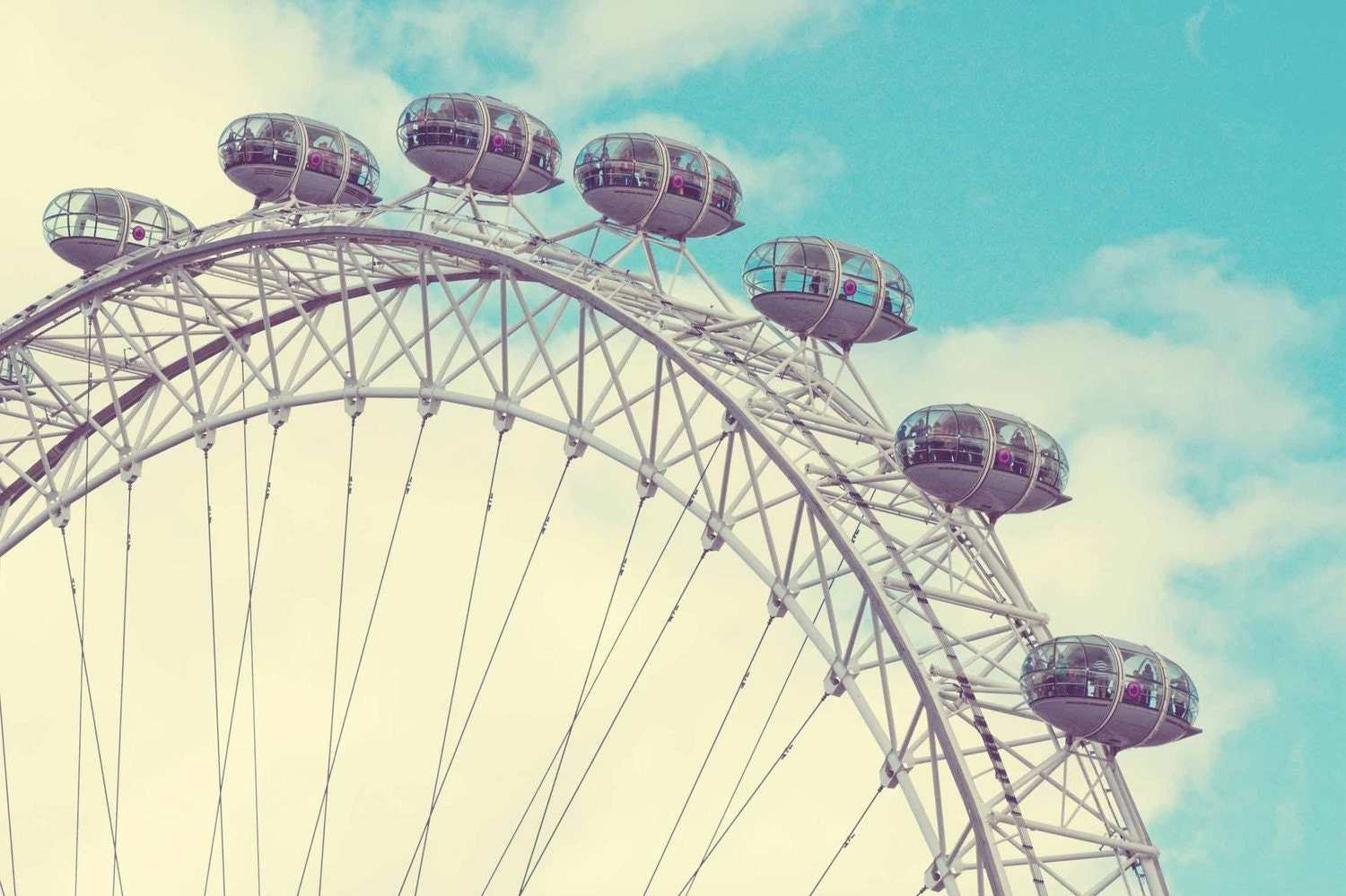 London Eye with Retro Vibe 8x10 Print- Travel Photography