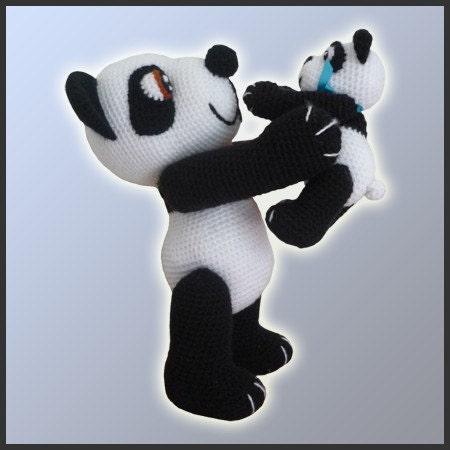 Amigurumi Patterns Panda Bear : Amigurumi Crochet Pattern Panda Bears by DeliciousCrochet ...